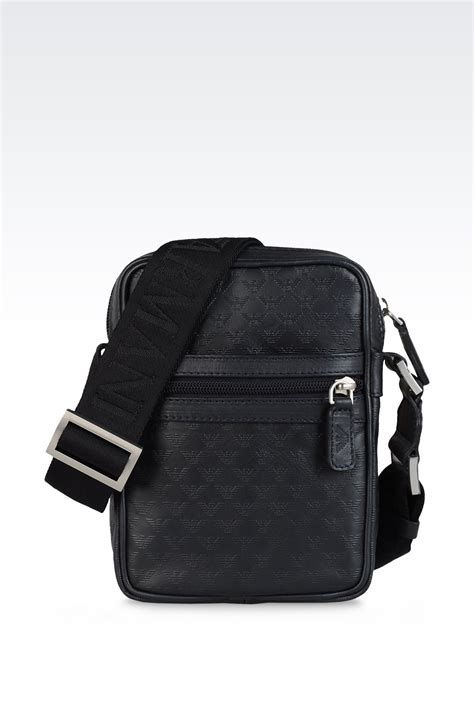 Bag Selempang Emporio Armani 3743 lyst emporio armani small shoulder bag in calfskin with all logo in black for