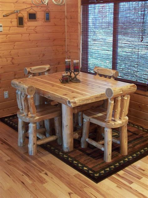 log dining room sets dining room forest log furniture