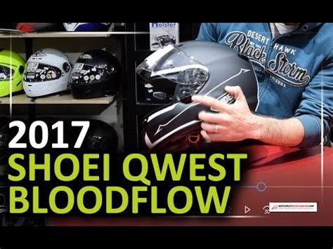shoei qwest bloodflow tc  kask sessiz dayanikli ve