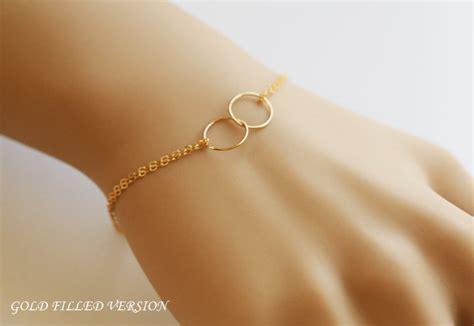 Best Friends Bracelet,Gold Fill Bracelet,Circle Karma Bracelet,Eternity Love Circle,Wire Wrapped