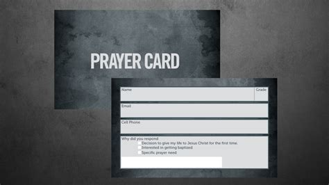 prayer card template templates vintage church resources
