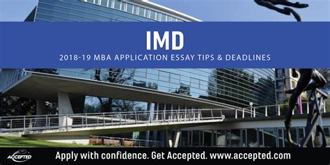 Fgcu Mba Deadline by Imd Mba Application Essay Tips And Deadlines Accepted