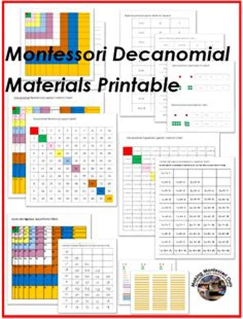 montessori card layout template montessori math ideas on montessori hundreds