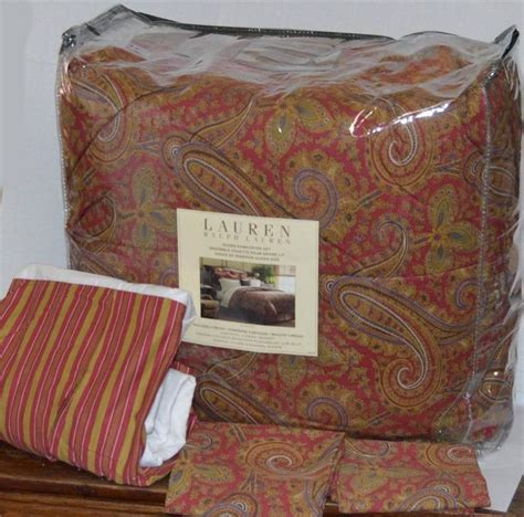 lauren bedding ralph lauren edmonton paisley queen comforter set new 1st