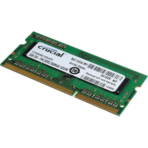 Ram 2gb Laptop crucial 2gb sodimm laptop memory module ct25664bc1339 b h photo