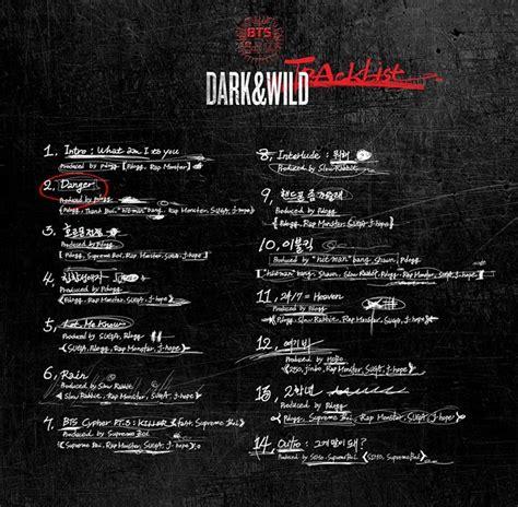 bts song list bts drops dark wild track list soompi