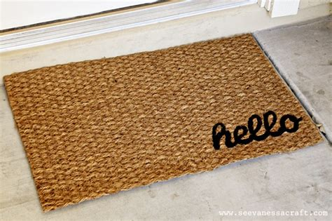 House Mat Diy Welcome Mats For An Inviting Home Entrance