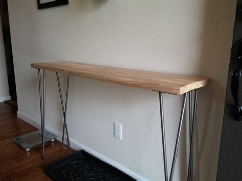 Hallway Foyer Table Jerrod S Entryway Table With Twist Hairpin Legs