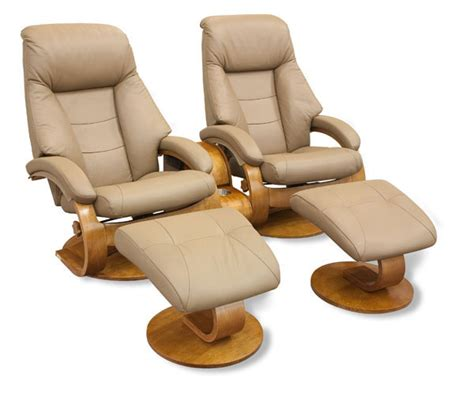 European Recliners by Mac Motion Recliner And Ottoman Set In Sand