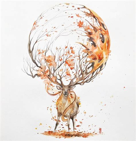 expressive watercolor animal paintings by luqman reza