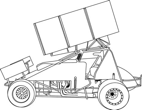 Sprint Car Coloring Page | sprint car coloring page