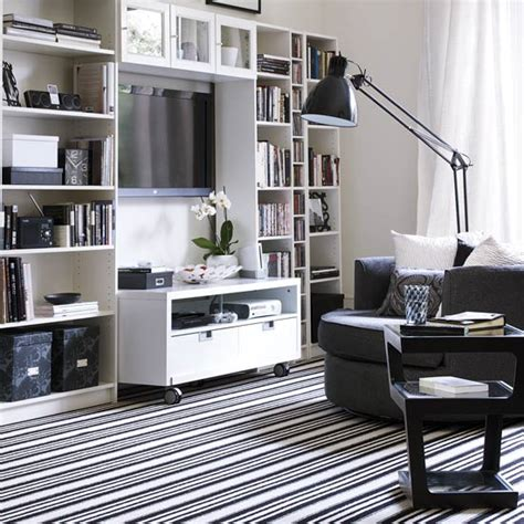striped living room black and white decorating ideas decorating ideal home