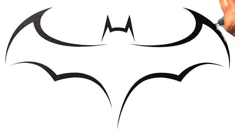batman logo tattoo cool simple drawing designs how to draw batman logo