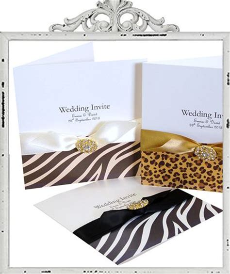 Animal Print Wedding Invitations animal print wedding invitations