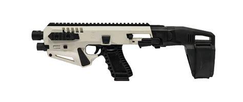 white conversion limited edition white micro roni stabilizer pistol