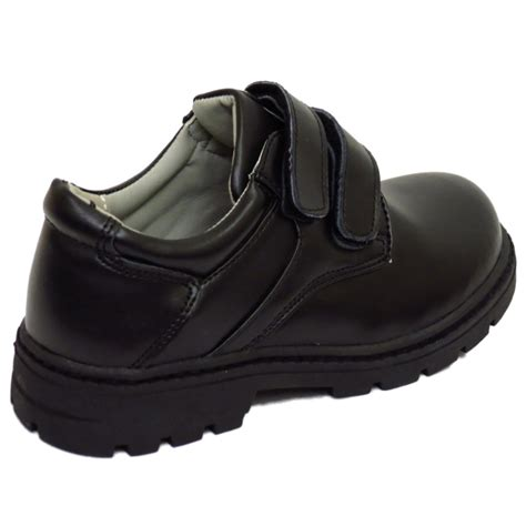 school shoes for size 13 boys childrens black leather school velcro comfort