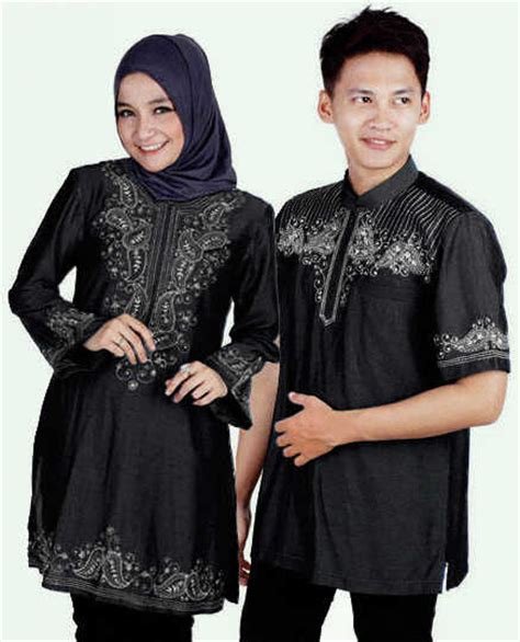 Gamis Monalisa Black Jumbo baju muslim denim cp05 jual gamis modern