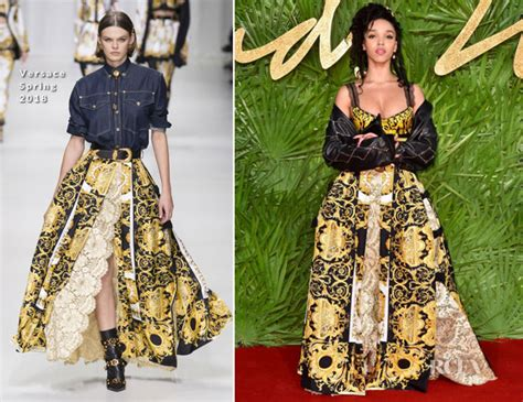 Fashion Awardsthe After by Fka Twigs In Versace The Fashion Awards 2017
