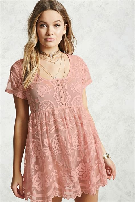 Who Wore It Better Sequined Balenciaga Babydoll Dress by Forever 21 Sheer Lace Babydoll Dress In Pink Lyst