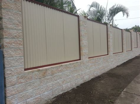 block fence designs pin wall and various outside fencing 2017 allscapes savwi com