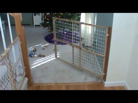 swinging on the gate swinging child fence or dog gate youtube