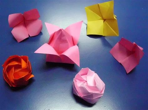 Single Sheet Origami Flower - origami models gallery 1