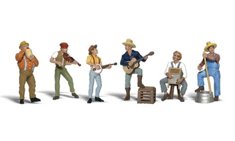Painting N Scale Figures by Jug Band N Scale N Scale Woodland Scenics Model
