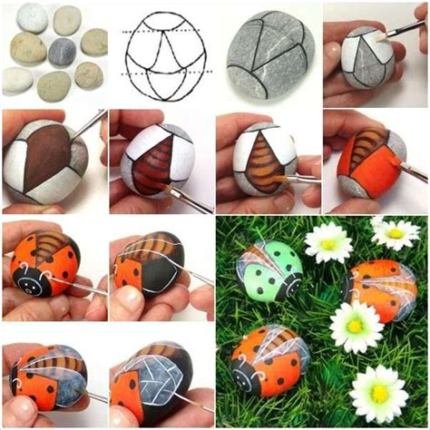 Paint Rocks To Craft These Awesome Flying Ladybugs Templates For Painting Rocks