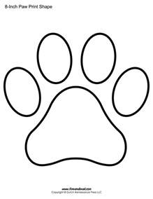 templates to print for free wildcat paw print outline coloring page coloring pages