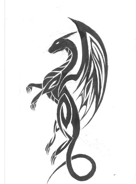 black tribal dragon tattoo designs black tribal flying design