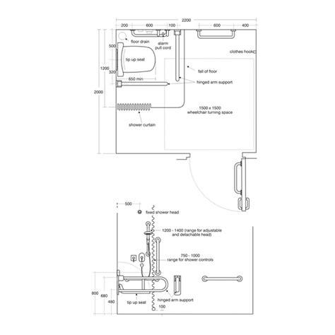 Standard Handrail Height Uk Doc M Shower Room Pack Doc M Shower Rooms Doc M Packs