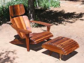 Adirondack Ottoman Adirondack Chair Lounger And Ottoman Made From Reclaimed
