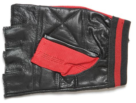 red leather motorcycle fingerless motorcycle riding gloves red biker stuff