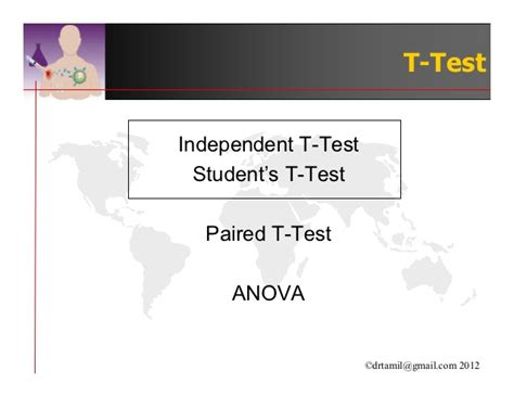 student s t test student s t test paired t test anova proportionate test