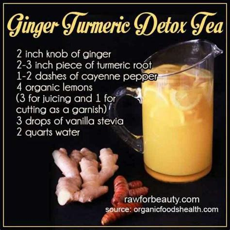 How To Make A Turmeric Detox Tea by Turmeric Detox Tea Hungry Happy Healthy