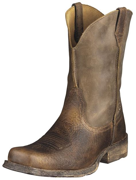 men boats ariat rambler cowboy boots earth brown bomber