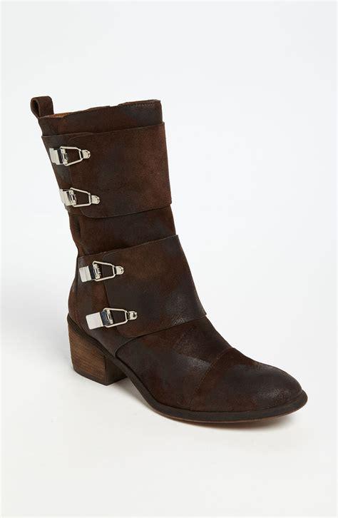 donald pliner boots donald j pliner dorria boot in brown espresso lyst