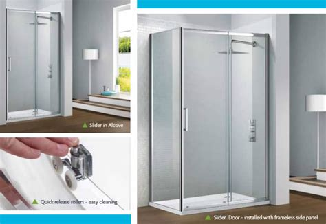 Shower Doors Cork Flair Capella Slider Shower Door Cork Builders Providers