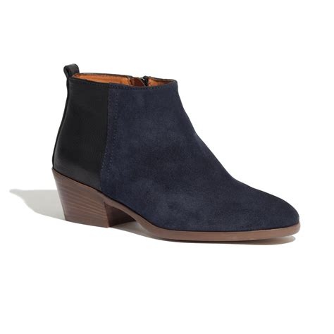 madewell the boot in blue vision lyst