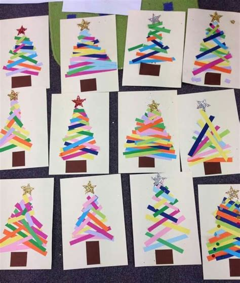 xmas tree activity out of construction paper idea to look at quot longer than vs shorter than quot for arts crafts