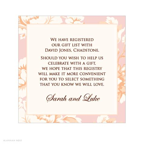 Wedding Registry Wording by Wedding Invitation Wording Wedding Invitation Wording