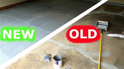 paint  garage floor amazing restoration youtube