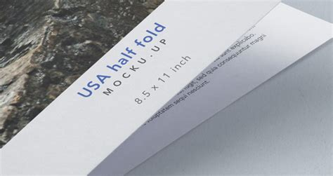8 5 x 11 half fold card template half fold psd 8 5x11 inch mockup psd mock up templates