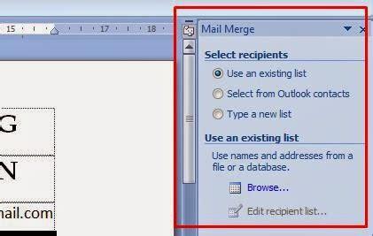 langkah langkah membuat mail merge untuk label cara membuat mail merge untuk surat label sertifikat