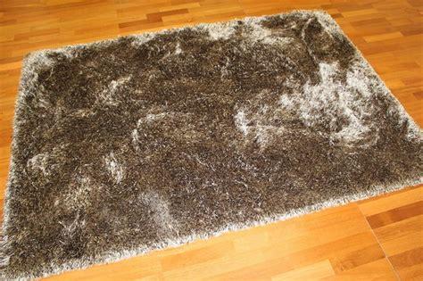 vloerkleed viscose velours hoogpolig vloerkleed soft deluxe bruin