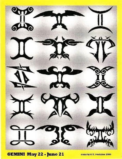 tattoo designs of zodiac signs gemini gemini tattoo ideas and gemini tattoo designs page 21