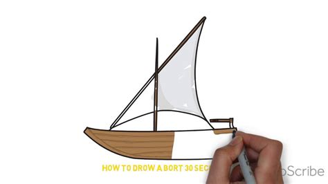 how to draw a boat youtube how to draw a boat 30 seconds youtube