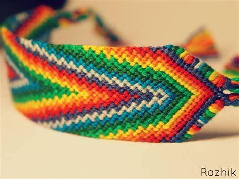 friendship bracelet with rainbow friendship bracelet by razhik on deviantart