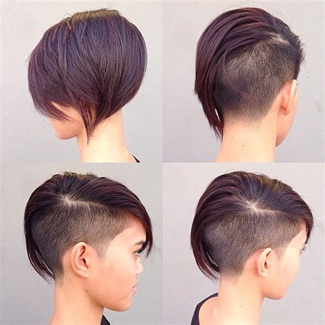 short haircuts for women with the part down the middle 19 undercut pixie cuts for badass women 2017 hairstyle