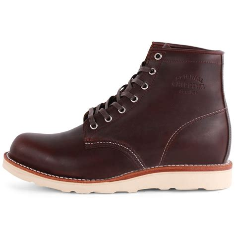 leather boots mens chippewa 1901m16 mens leather boots in oxblood